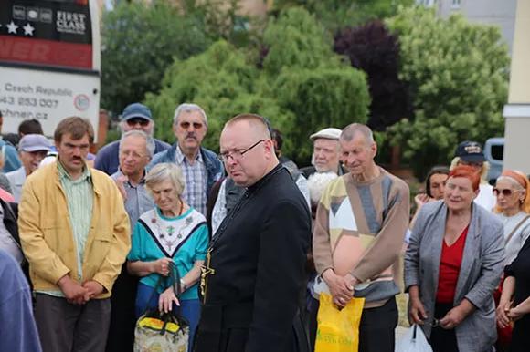 Delegação de Ucrânia Santo Eugênio, o Pão de Santo Antônio e da Virgem de Fátima