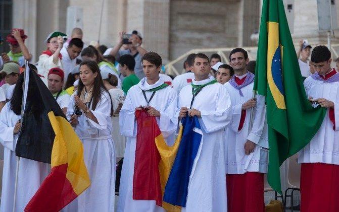 Hoje o encontro dos Ministrantes com o Papa Francisco