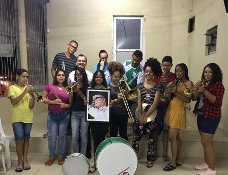 Início da Banda Marcial Pe. Francisco Rubeaux, OMI