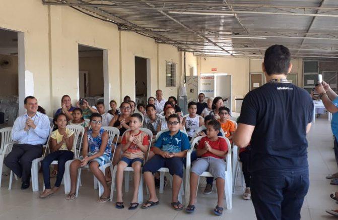 Aula inaugural do Projeto Cantando a Paz