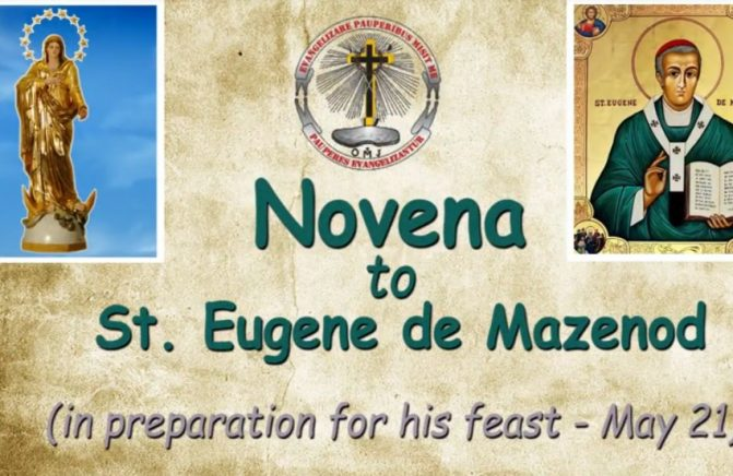 Acompanhe a Novena a Santo Eugênio de Mazenod