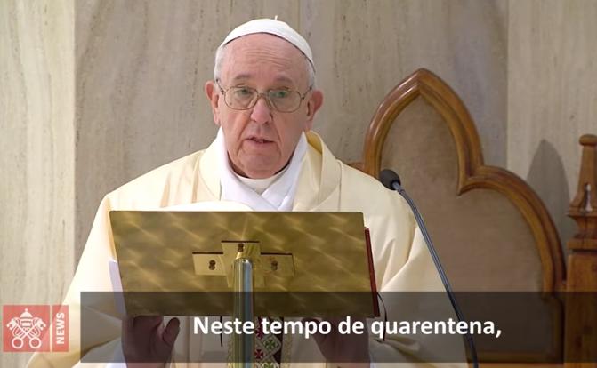 O Papa: que haja paz nas famílias e unidade na Igreja